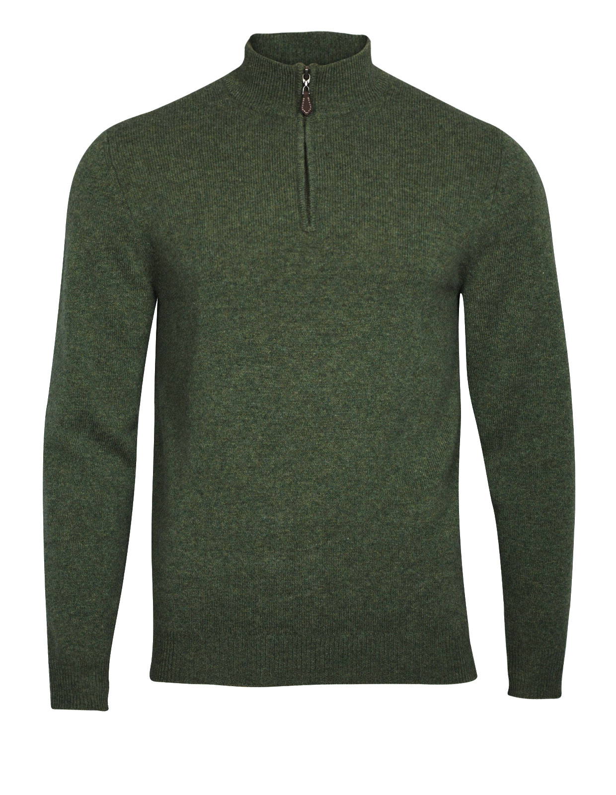 Sutherland Half Zip Mock Neck Jumper Rosemary