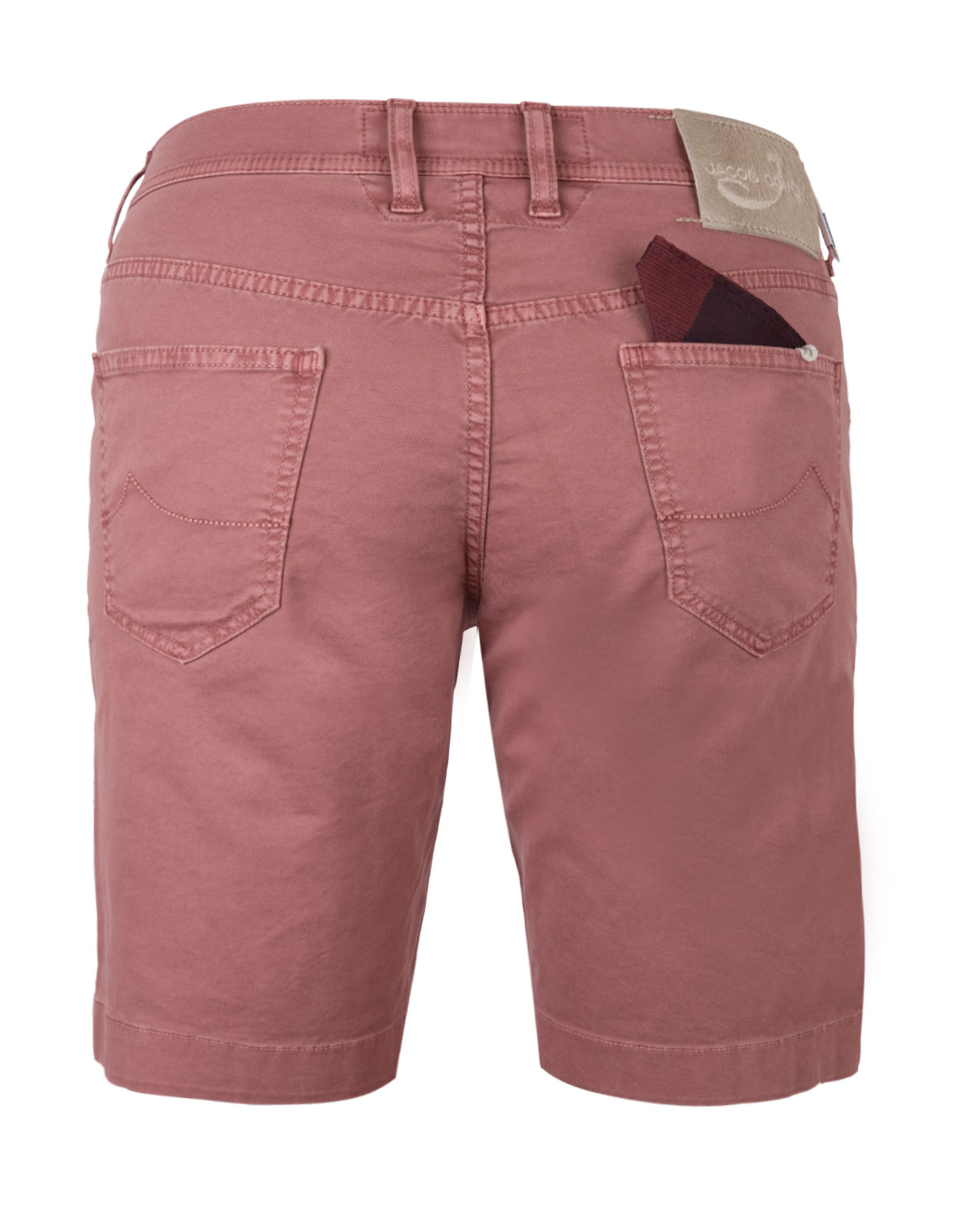 5-Pocket Shorts Cotton Lyocell Stretch Washed Red