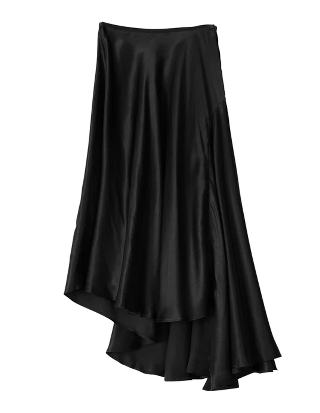 Kara Skirt Asymmetric Black
