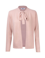 Cardigan med knyt PowderPink