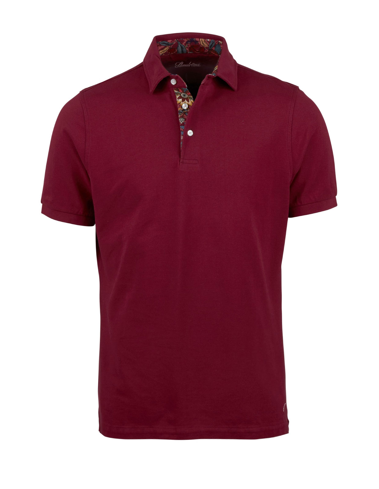 Polo Shirt Cotton Contrast Wine