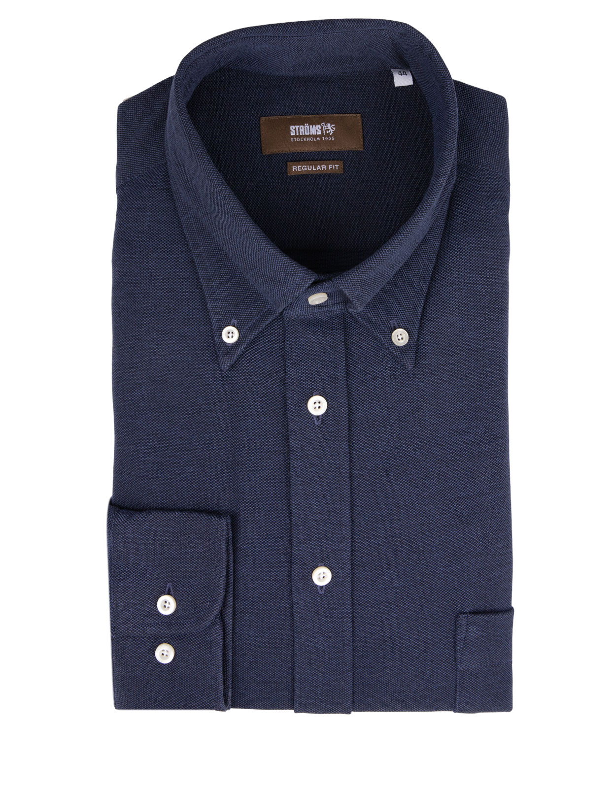 Regular Fit Button Down Jersey Shirt Navy