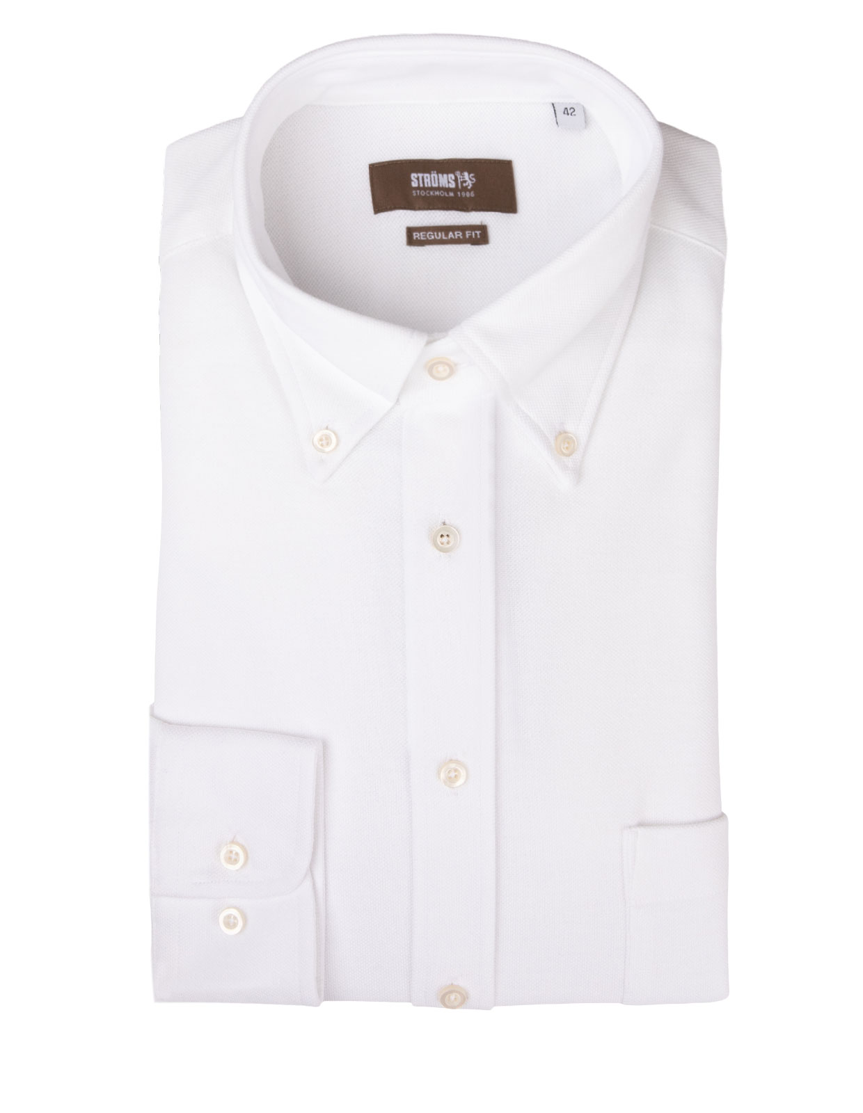 Regular Fit Button Down Jersey Shirt White