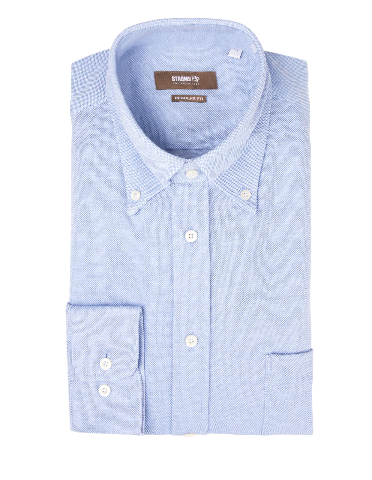 Regular Fit Button Down Jersey Shirt Light Blue