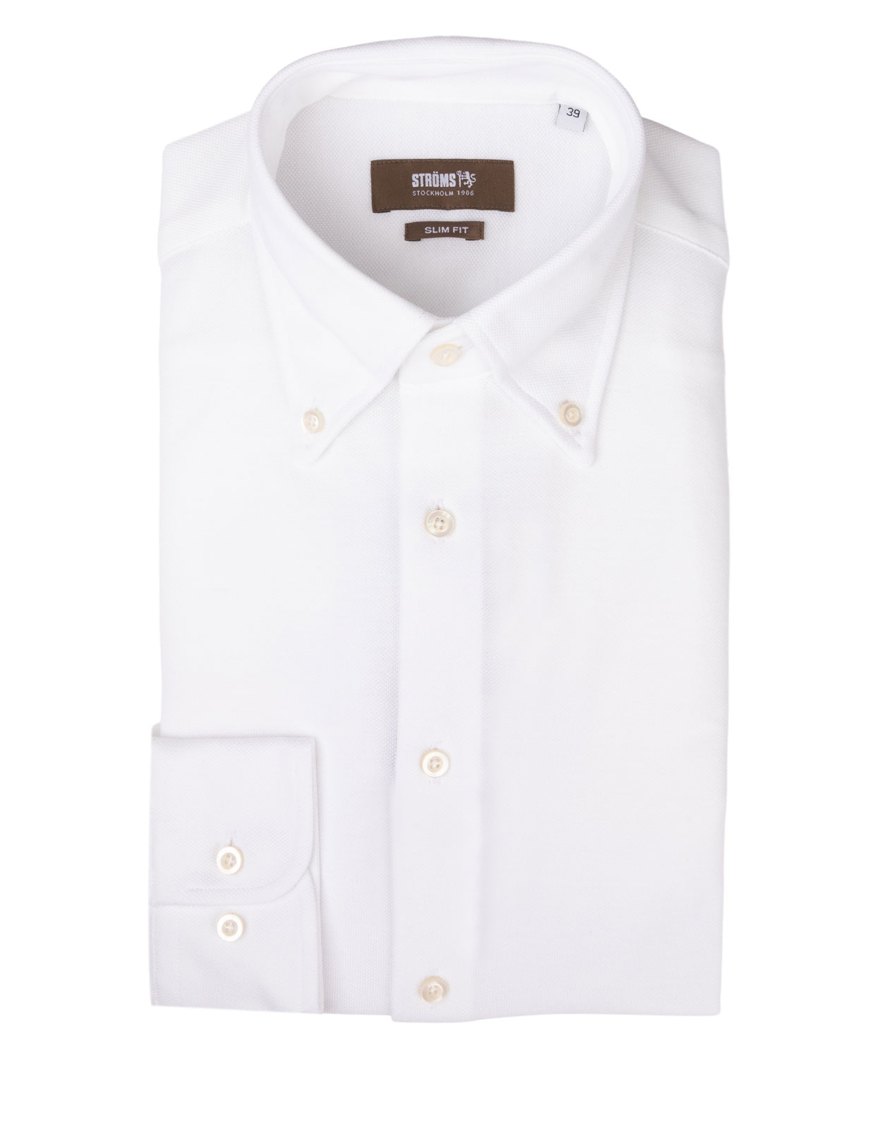Slim Fit Button Down Jersey Shirt White
