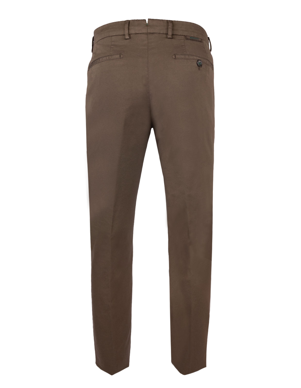 Comfort Slim Chinos Cotton Silk Stretch Terra