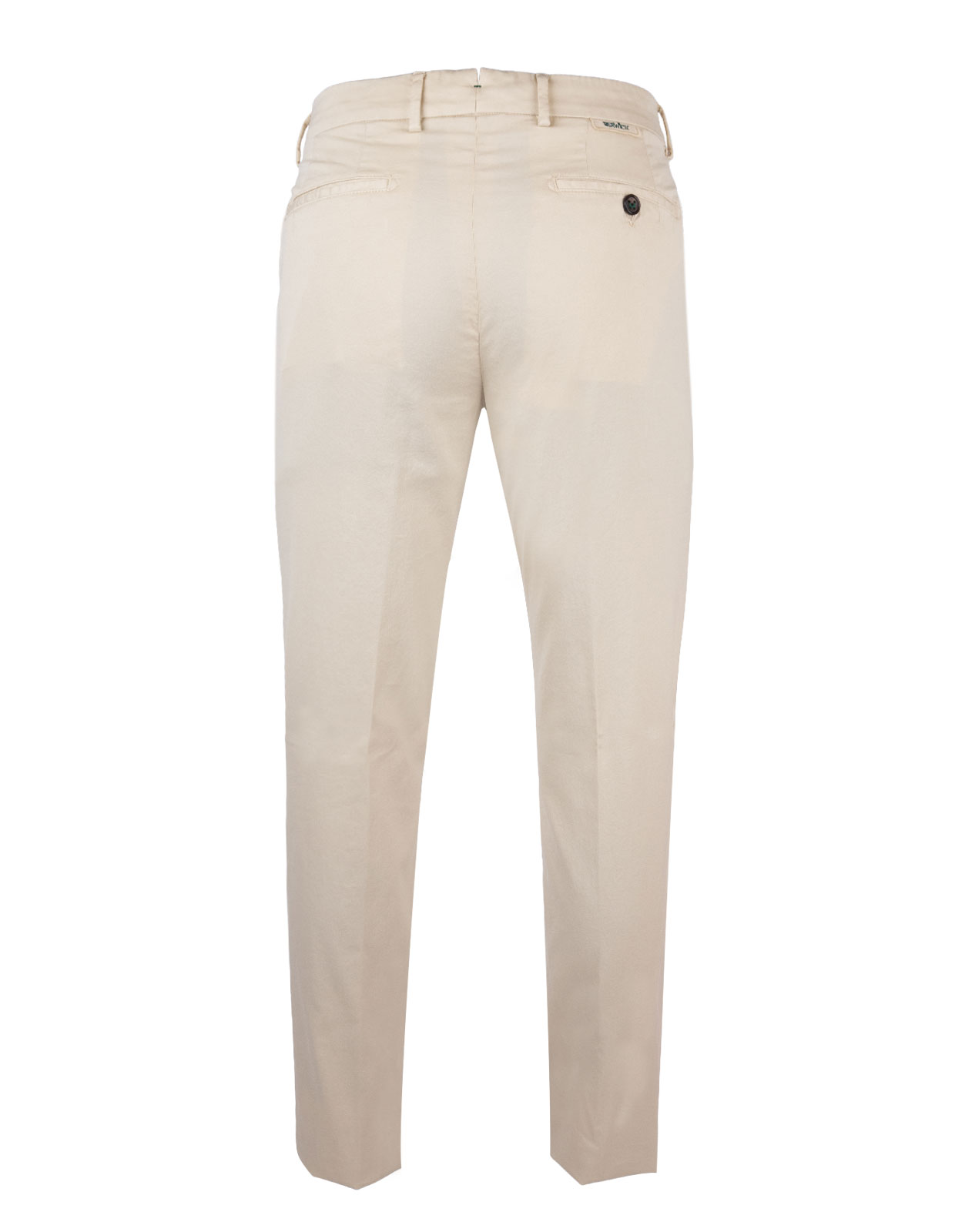 Comfort Slim Chinos Cotton Silk Stretch Gesso