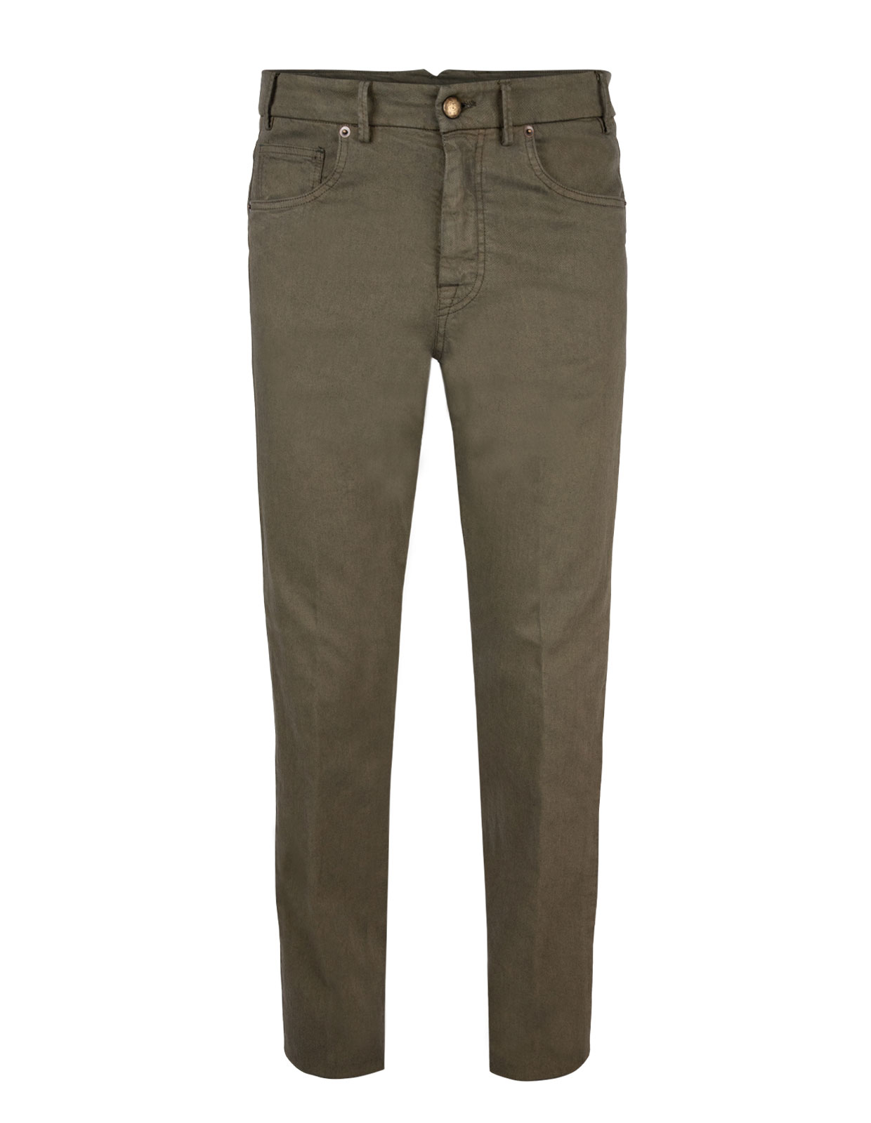 Barolo 5-Pocket Comfort Slim Stretch Militare