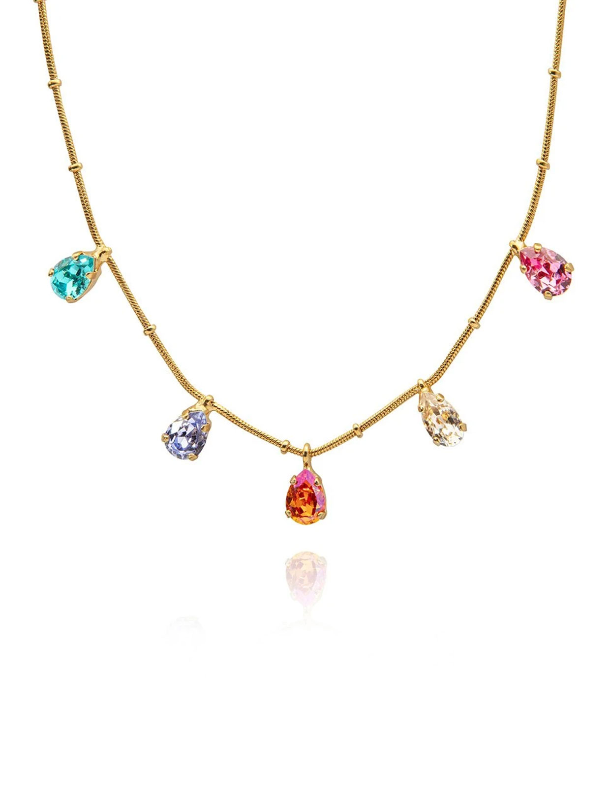 Estelle necklace Rainbow Gold