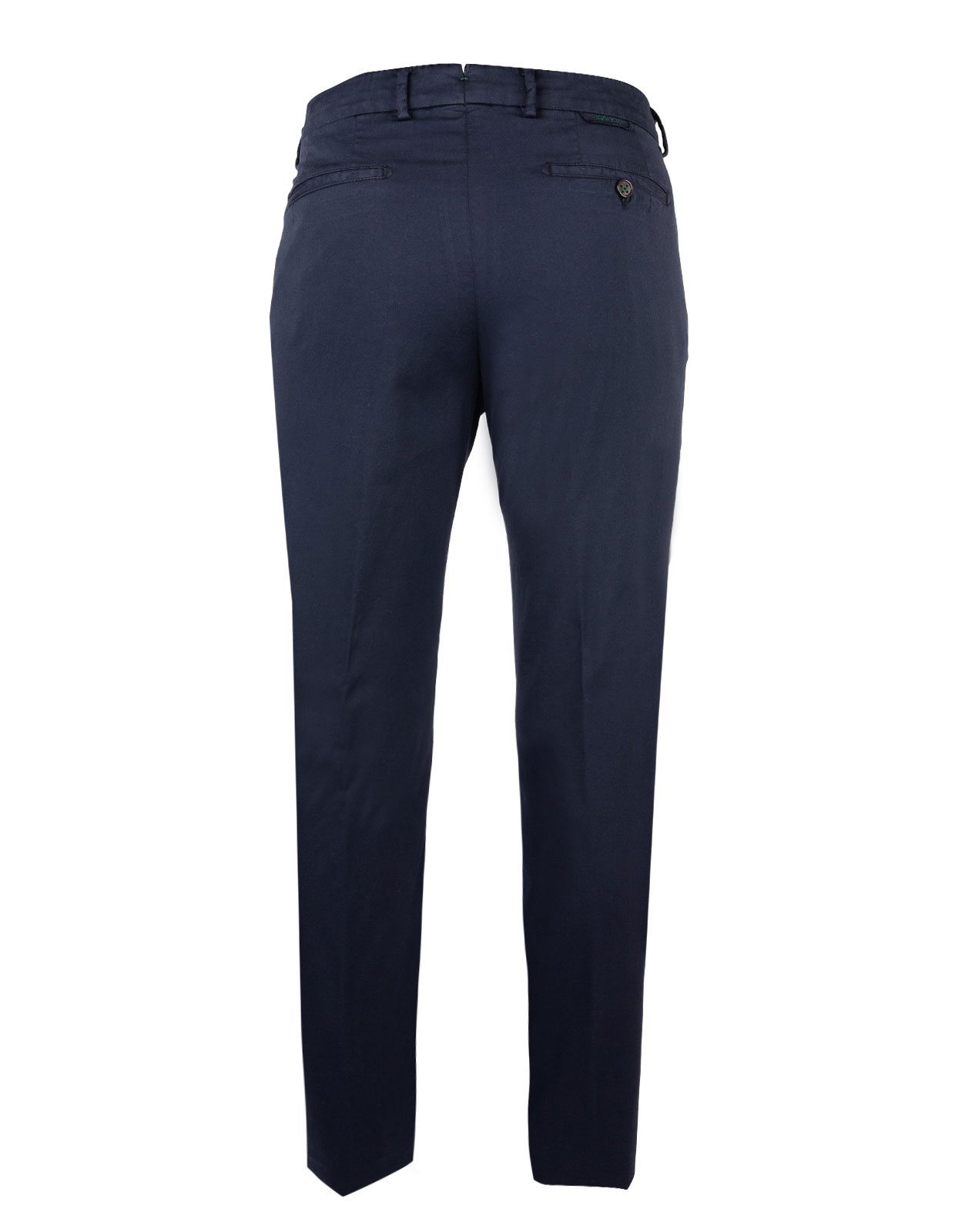 Comfort Slim Chinos Cotton Silk Stretch Navy