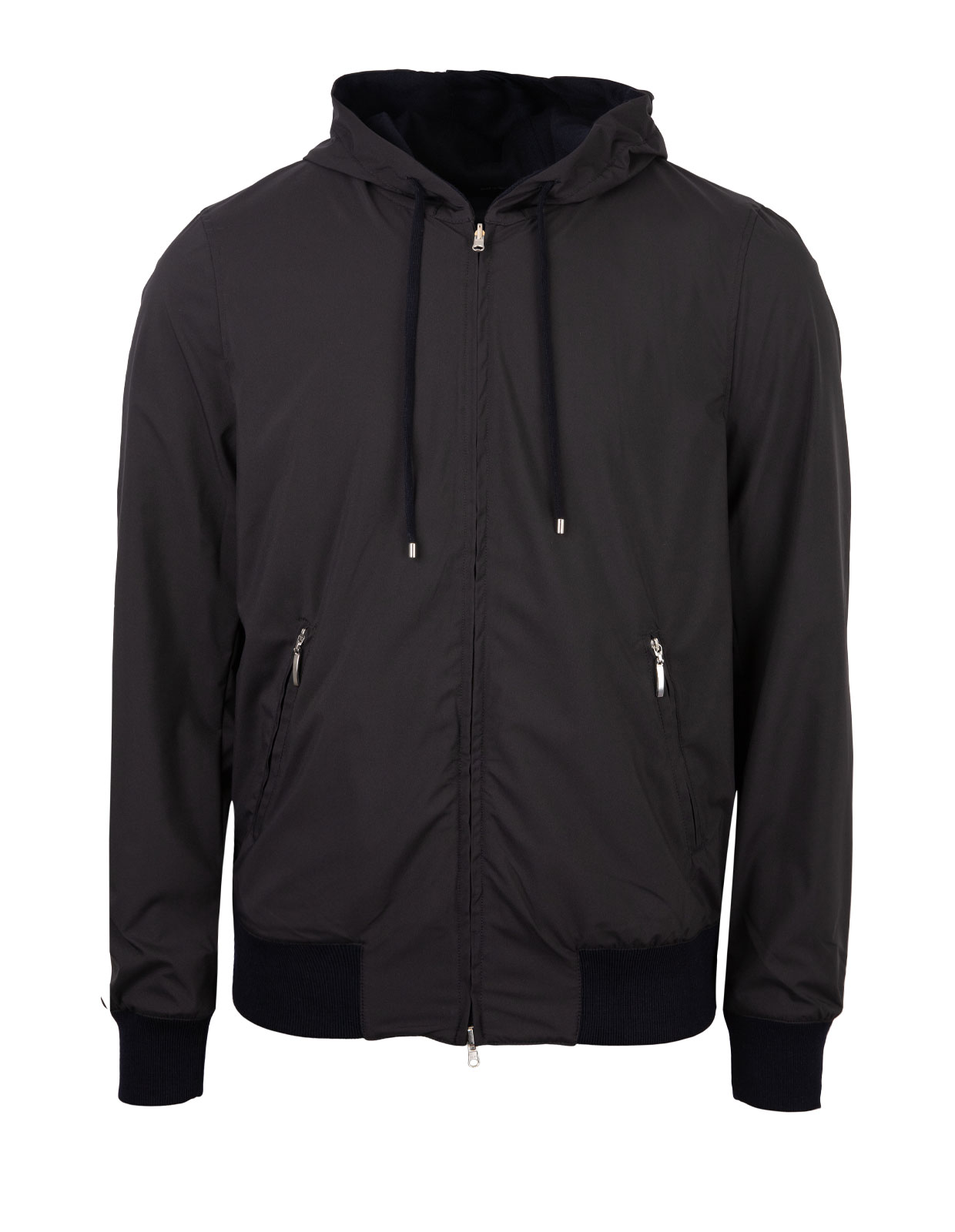 Reversable Nylon Rain Wool Jacket Navy