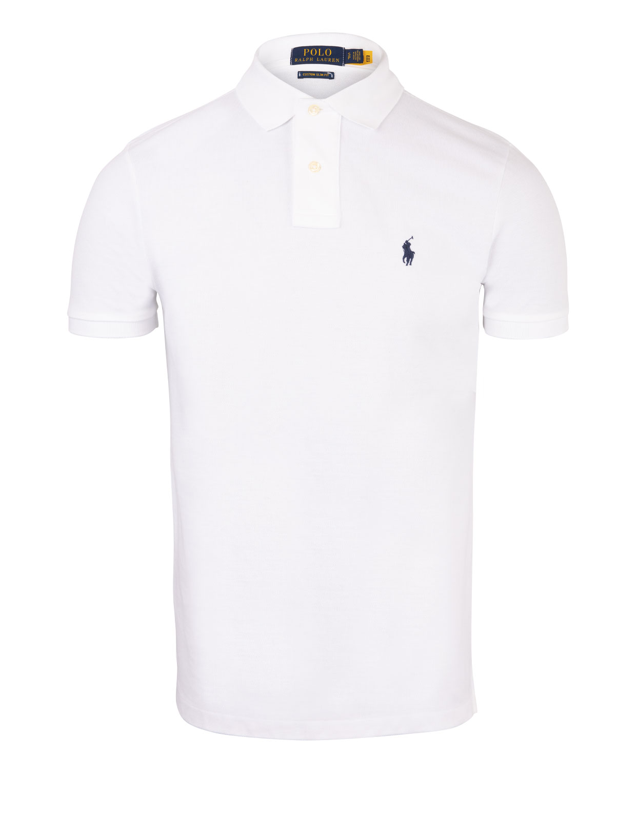 Custom Slim Fit Polo Shirt White