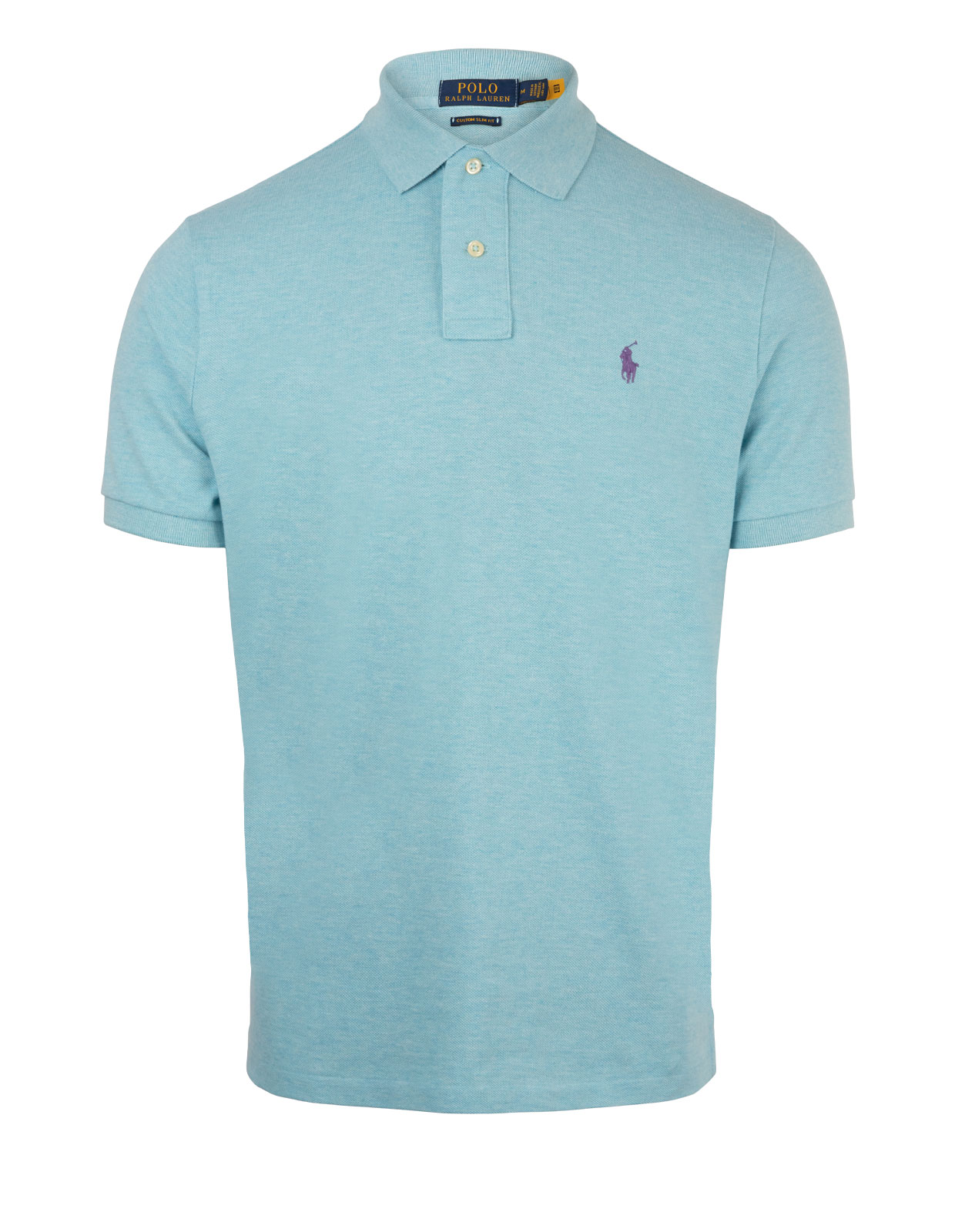 Custom Slim Fit Polo Watchhill Blue