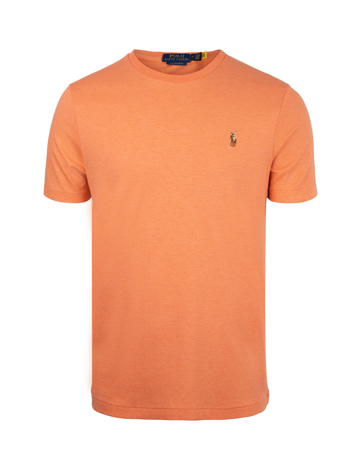 Luxury Pima Cotton Crew Neck Tee True Orange