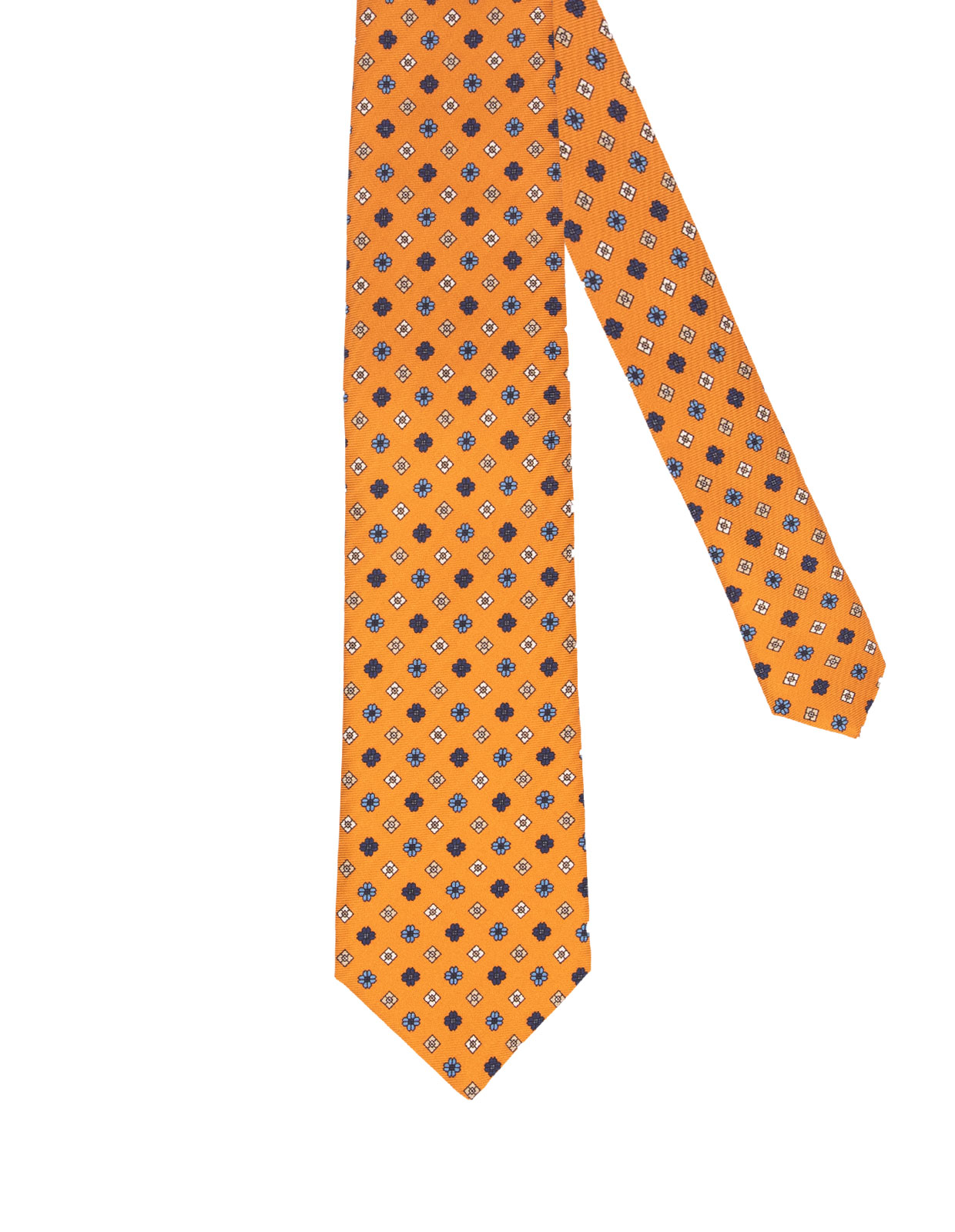 Printed Silk Tie Orange