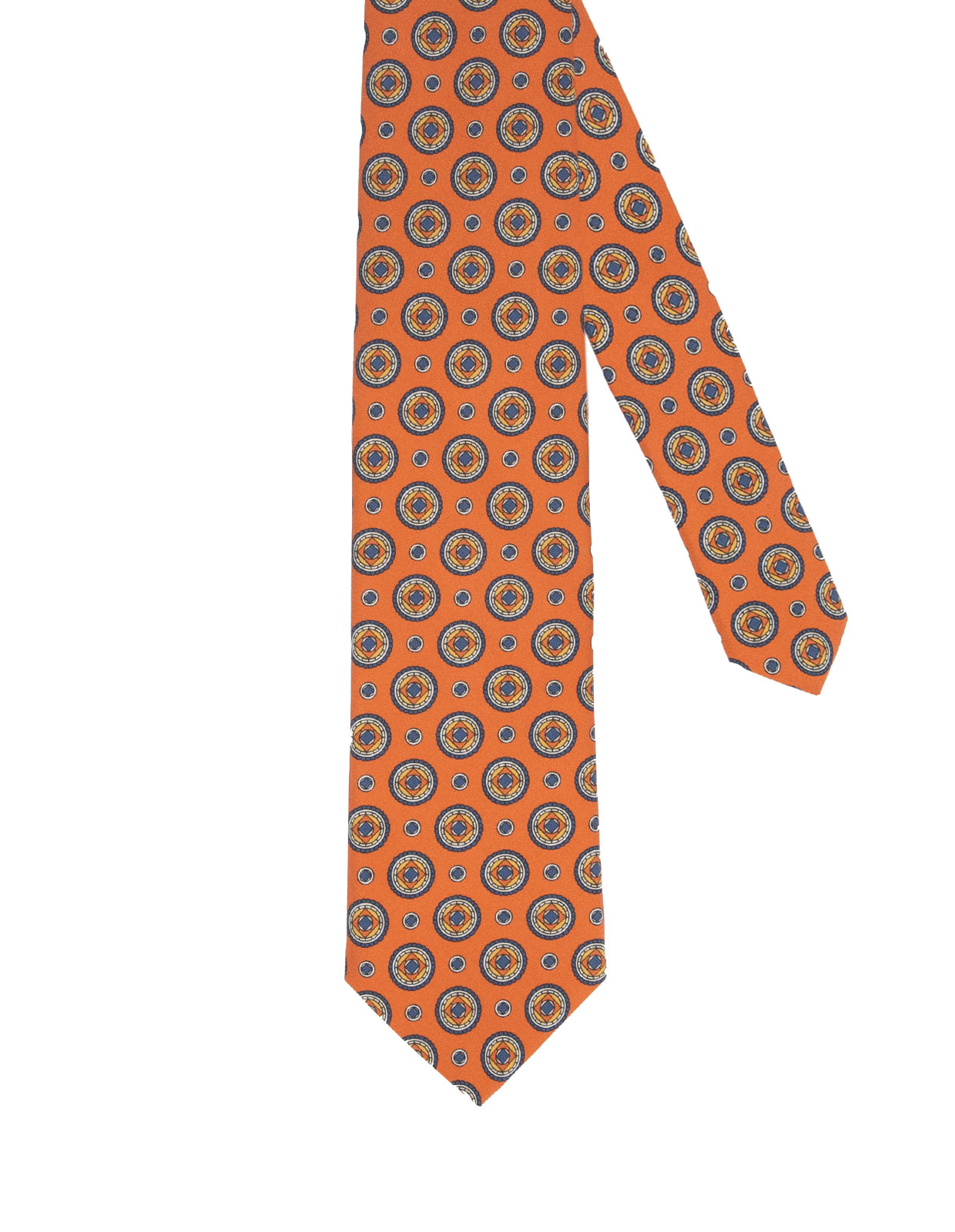 Sandwashed Silk Tie Orange
