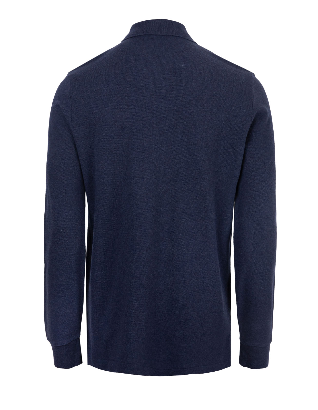 Custom Slim Fit Long Sleeve Polo Spring Navy