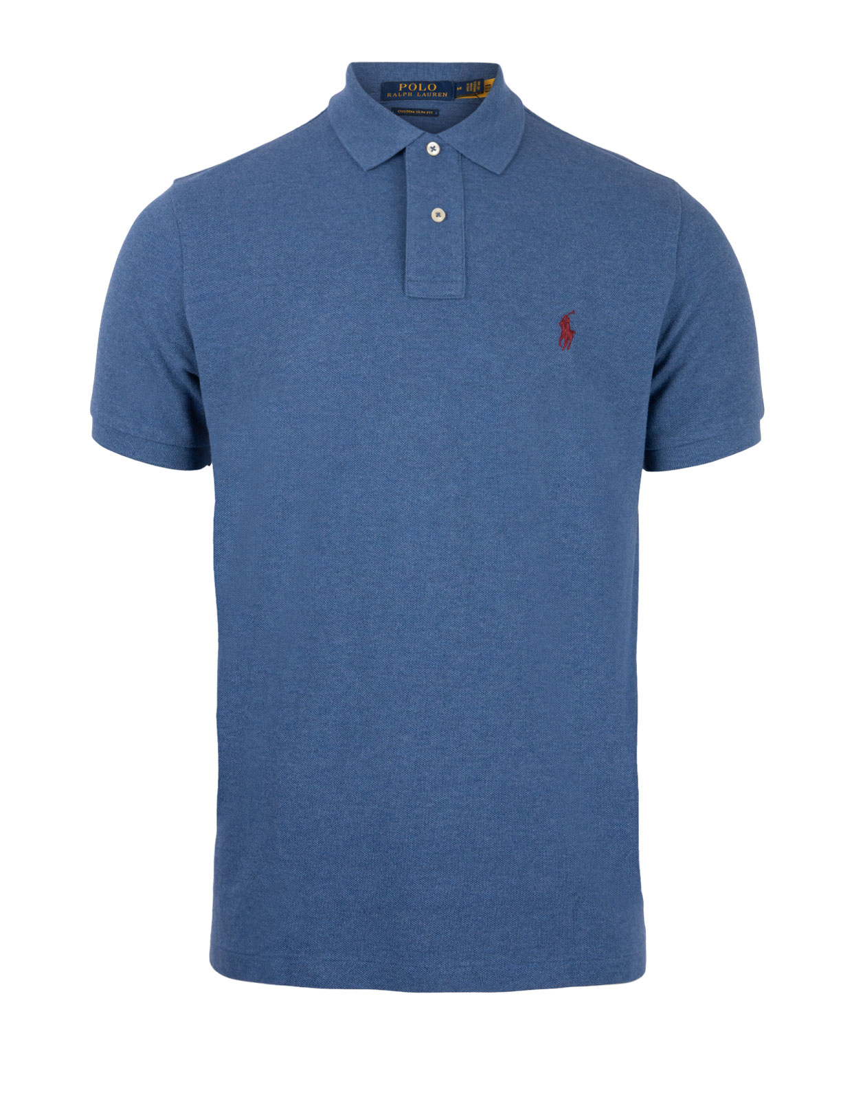 Custom Slim Fit Polo Royal Heather