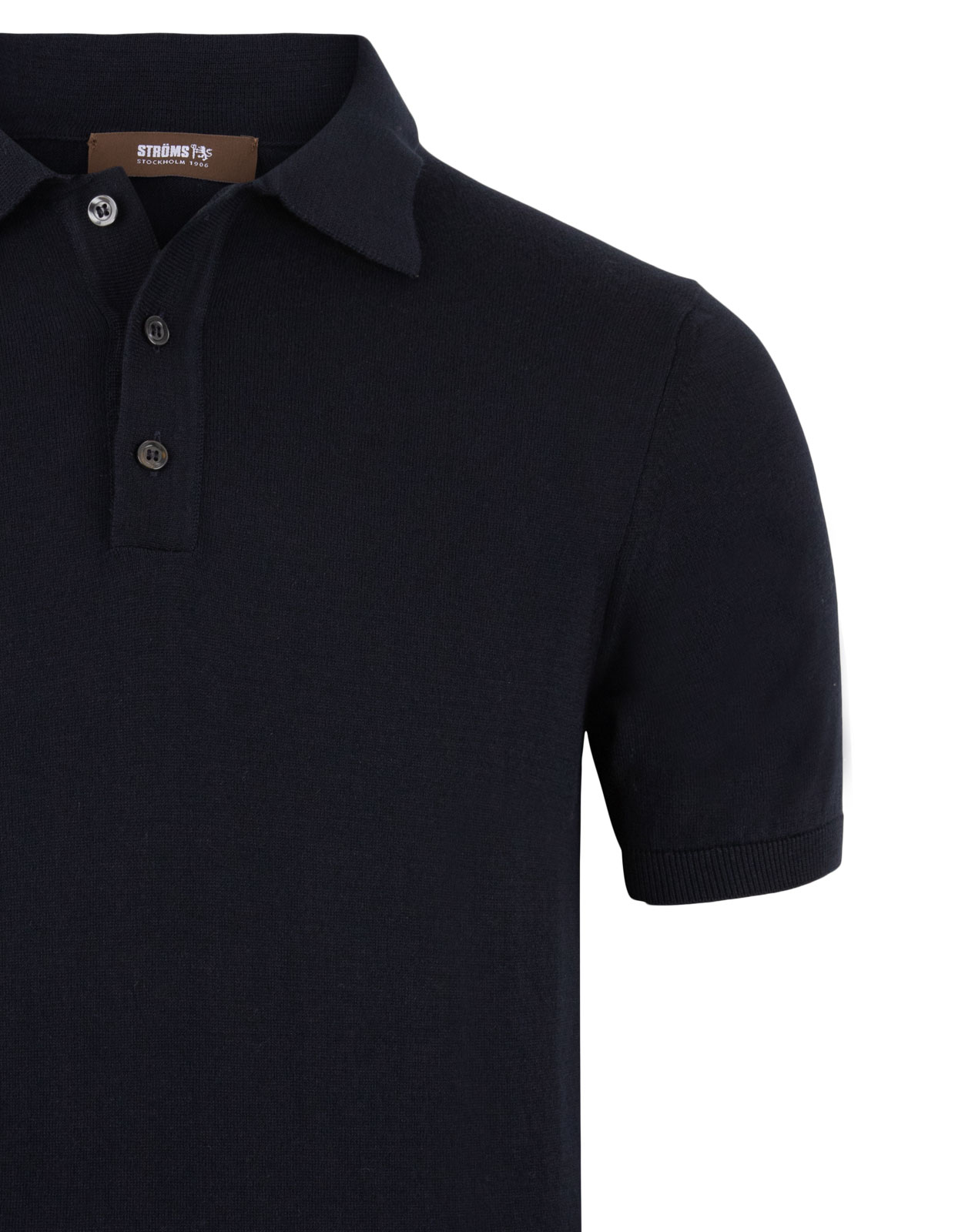 Polo Shirt Knitted Cotton Blue Navy