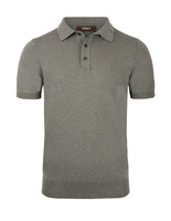Polo Shirt Knitted Cotton Verde Bosco