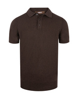 Polo Shirt Knitted Cotton Chocolate