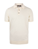 Polo Shirt Knitted Cotton Panna