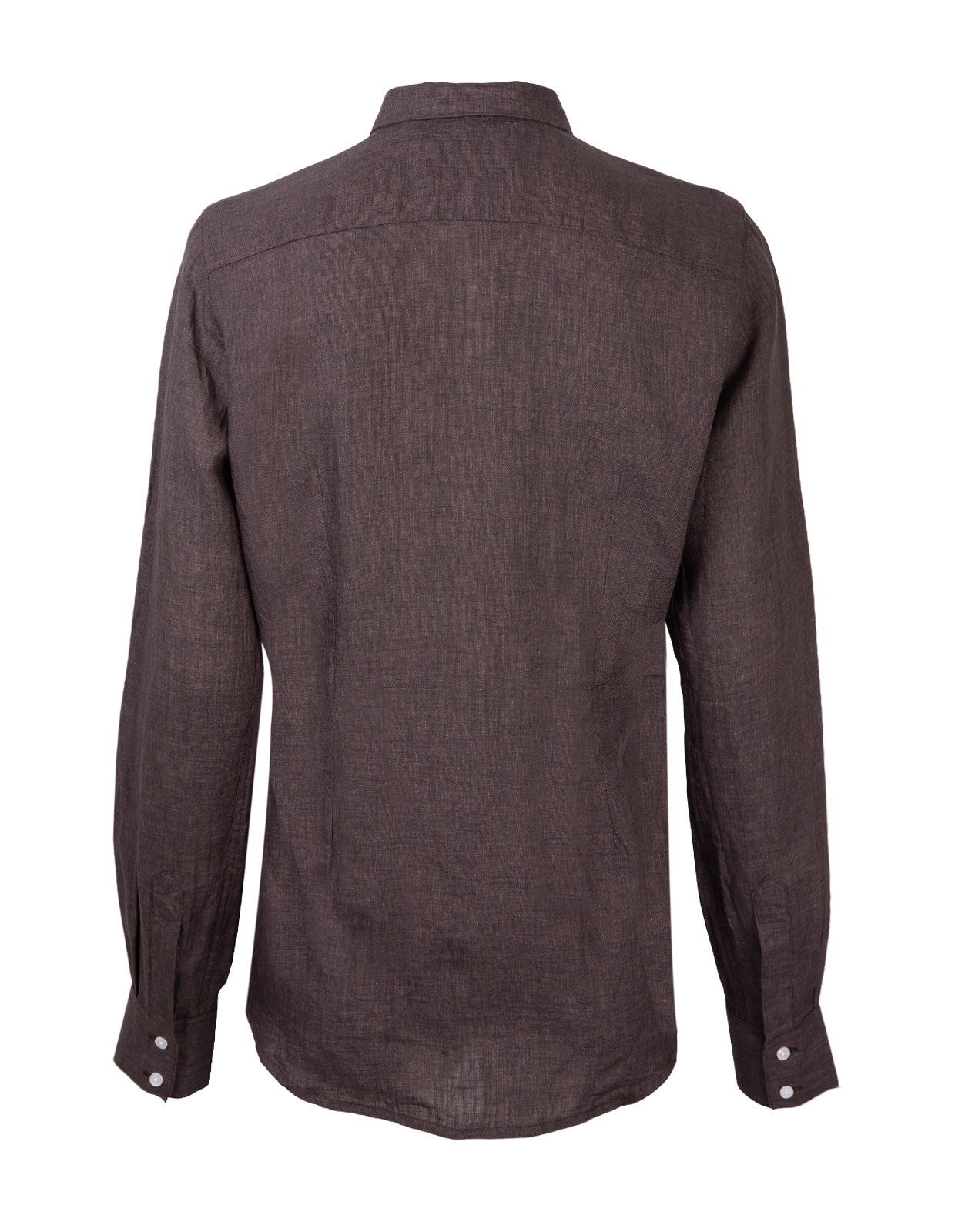 Linnen Shirt Long Sleeve Brown