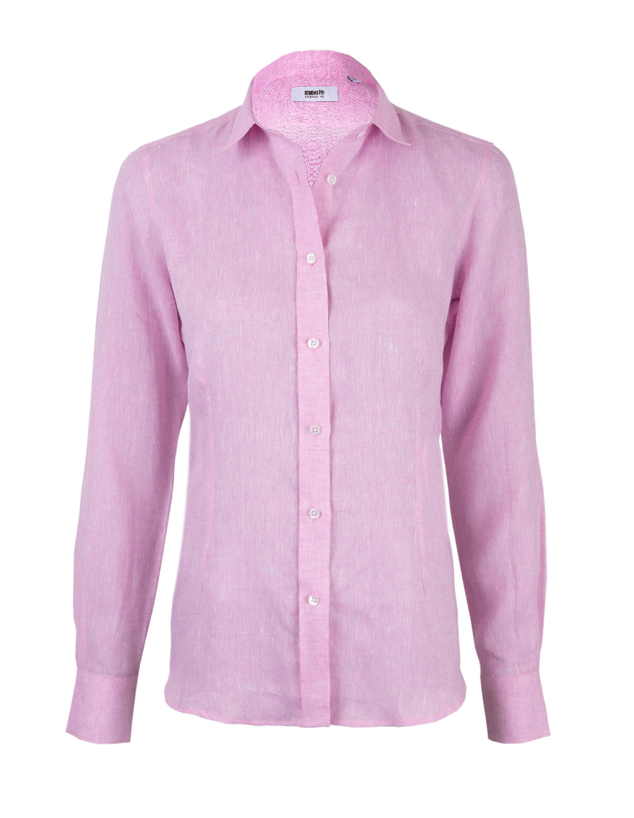 Linnen Shirt Long Sleeve Pink