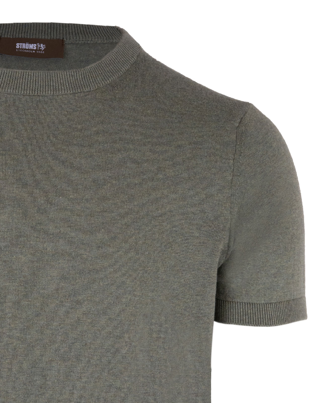 T-Shirt Knitted Cotton Verde Bosco