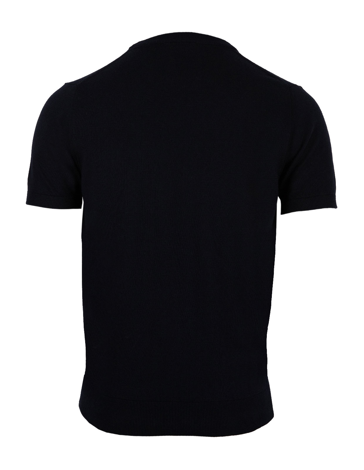 T-Shirt Knitted Cotton Blue Navy