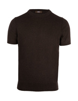T-Shirt Knitted Cotton Chocolate