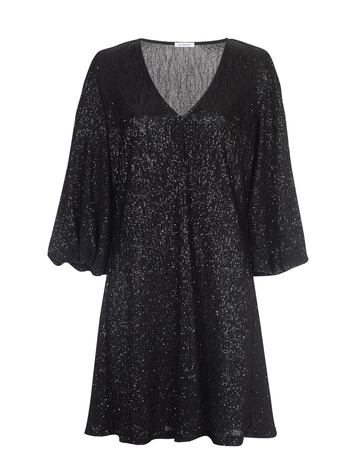 Giovanna Glitter Jersey Dress Black