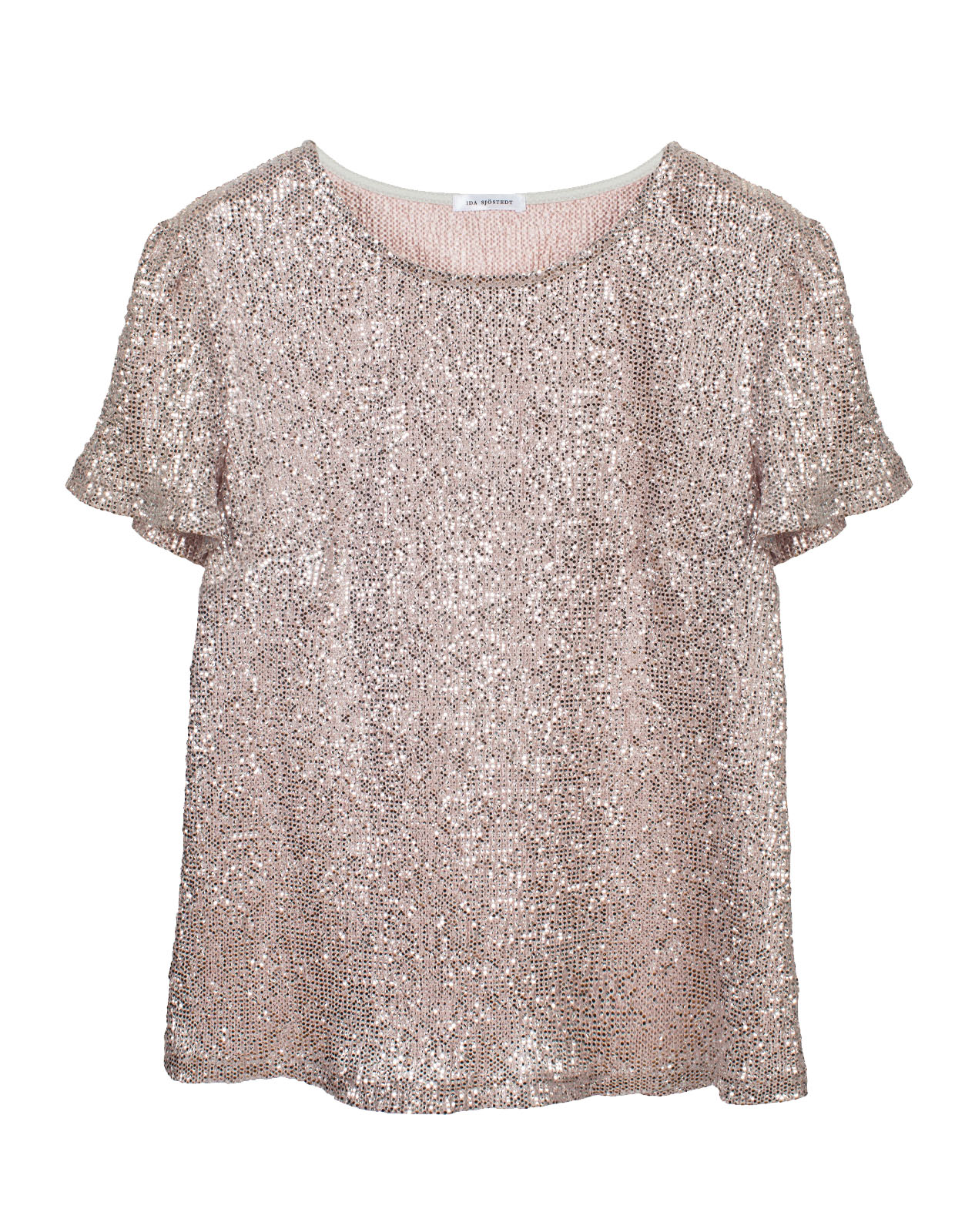 Wesley Glitter Jersey Top Pink