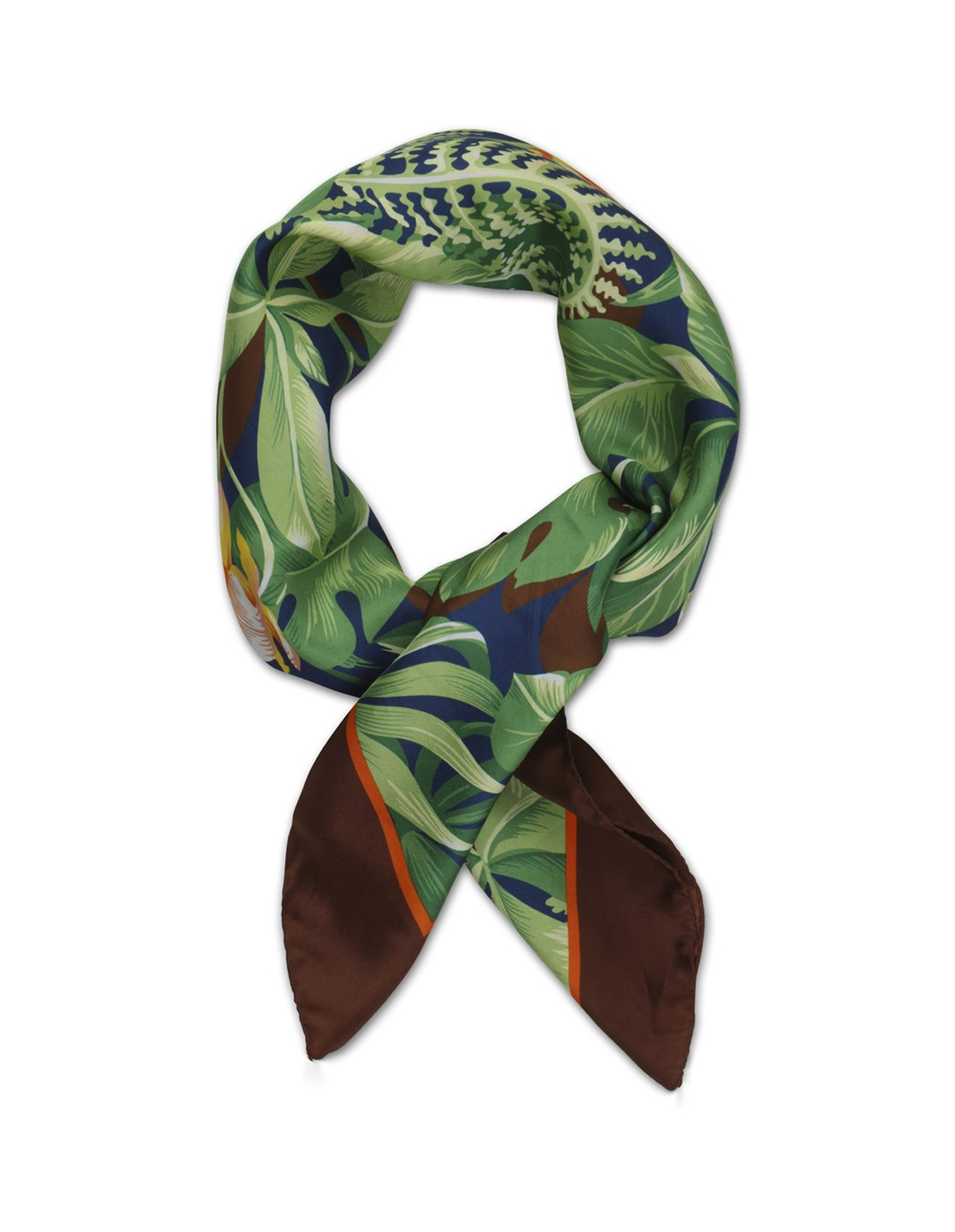 Tropical Scarf Green / Brown
