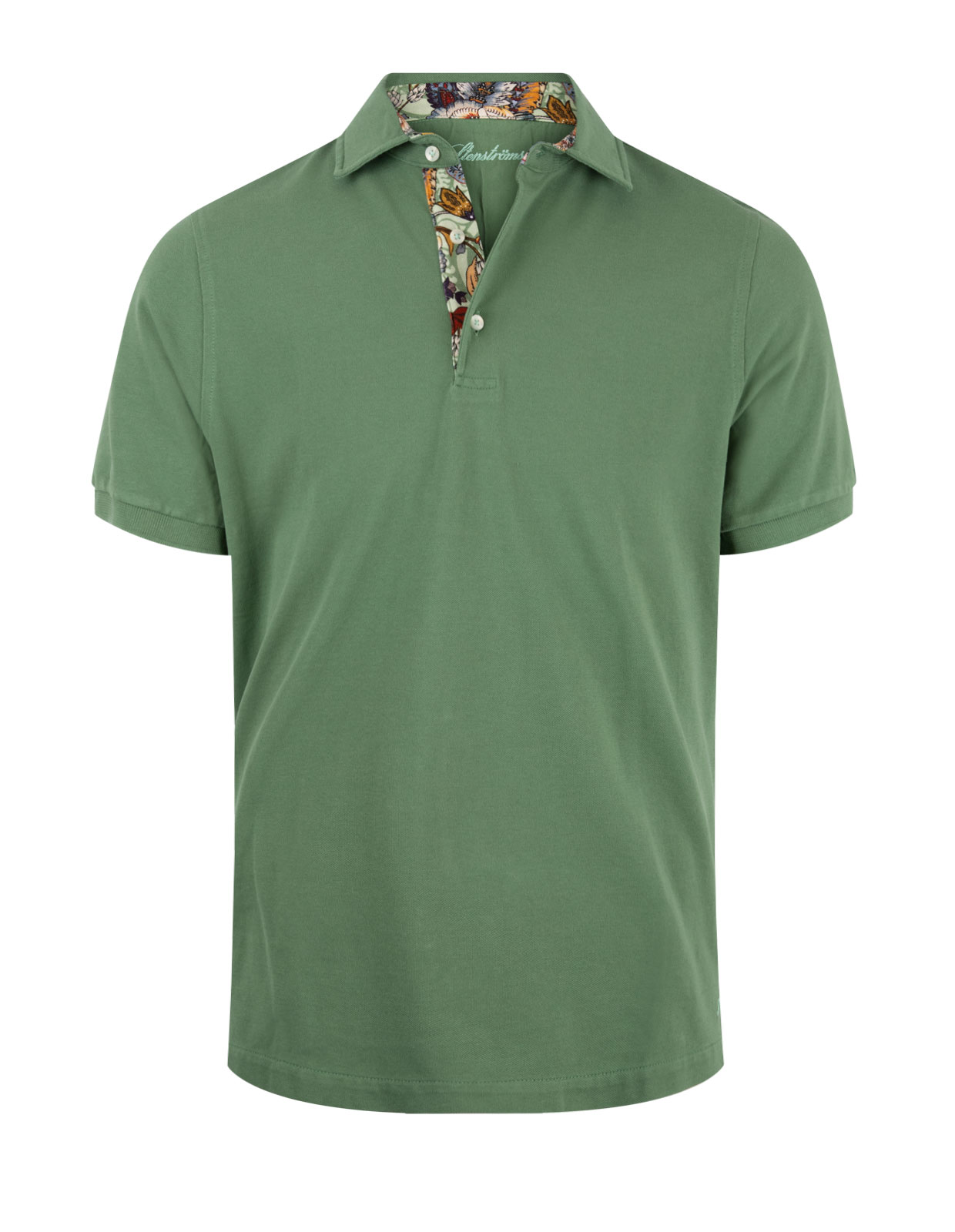 Polo Shirt Cotton Contrast Olive