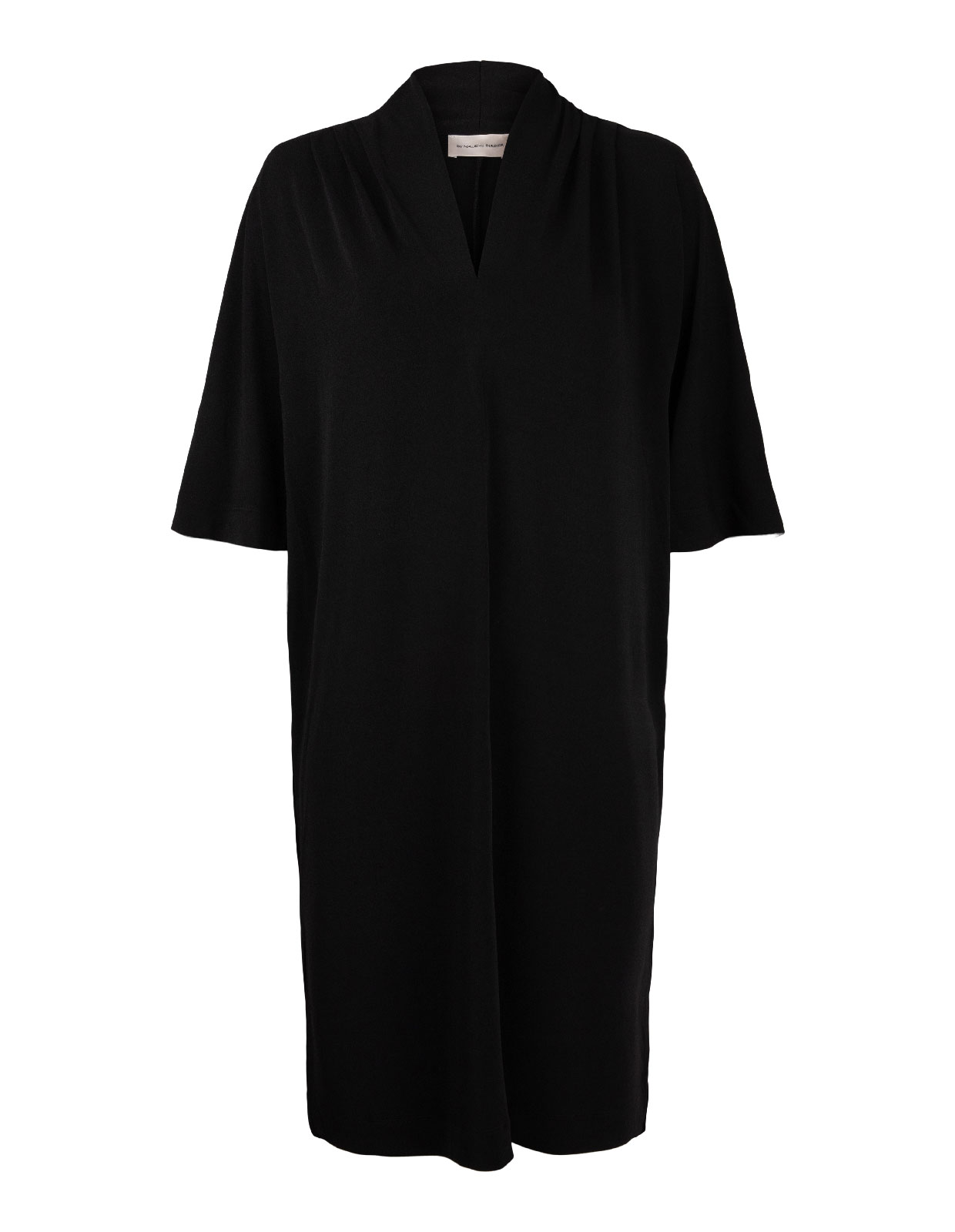 Bijou V-neck Dress Black