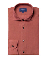 Slim Fit Soft Linen Shirt Brick Red