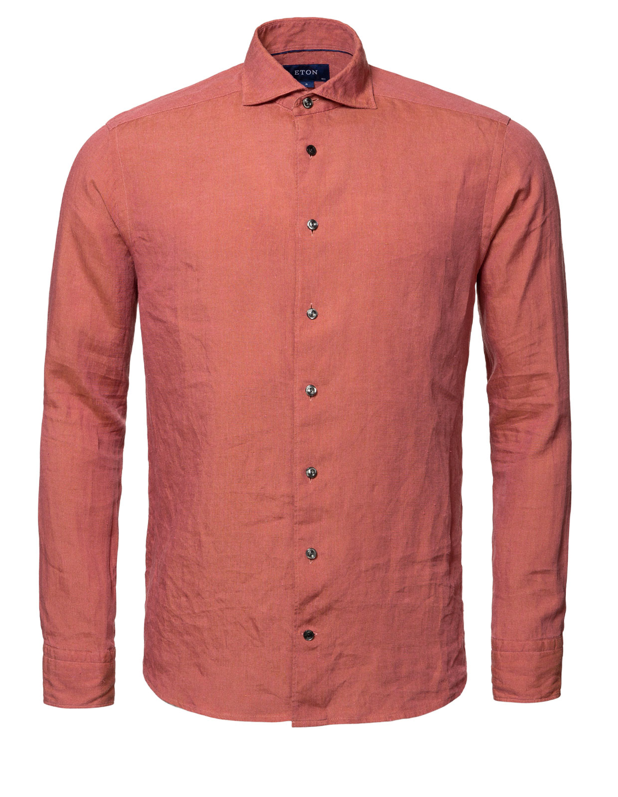 Contemporary Fit Soft Linen Shirt Brick Red