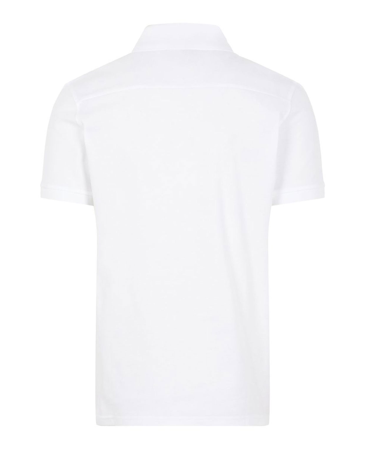 Troy Cotton Polo Pique Shirt White