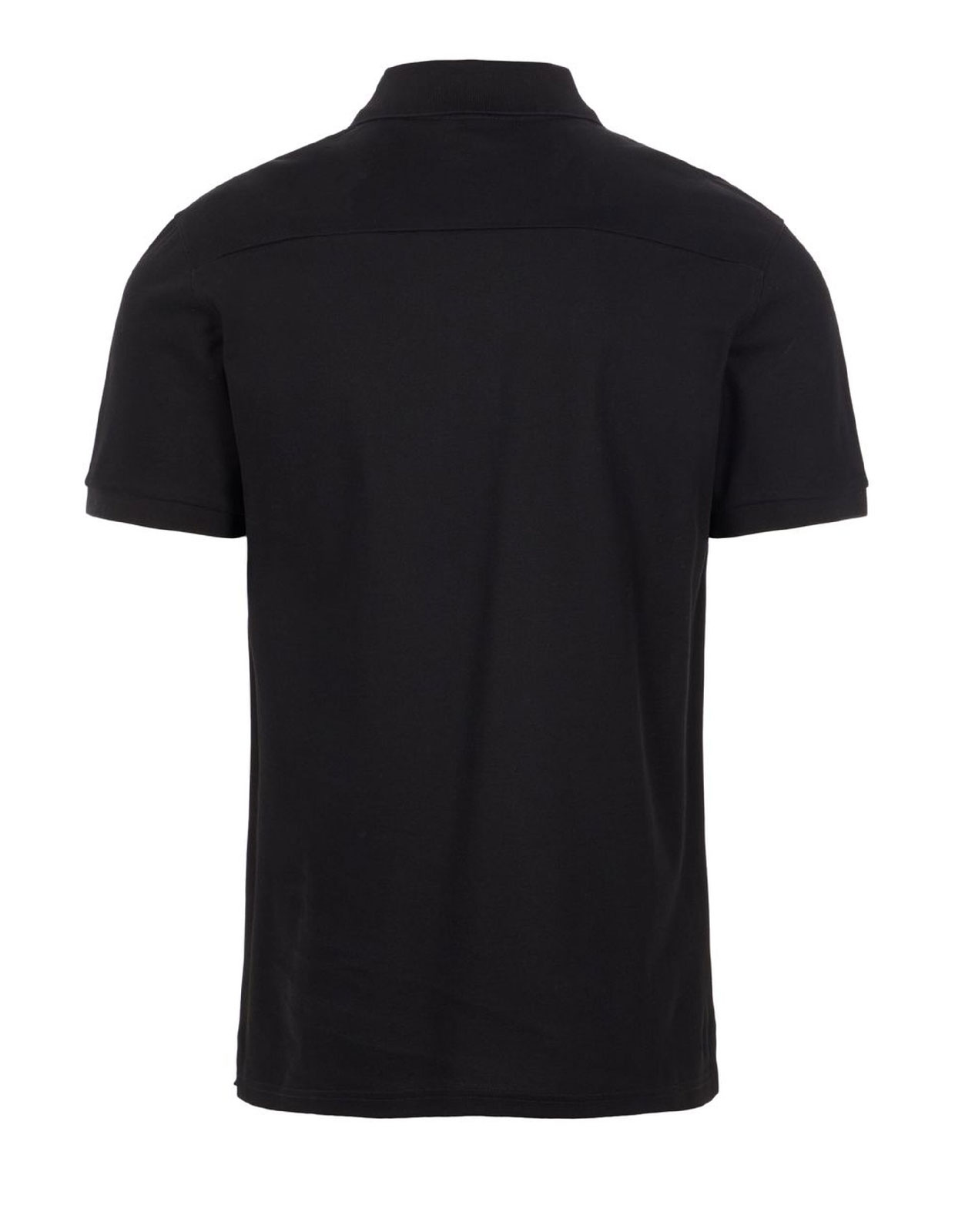 Troy Cotton Polo Pique Shirt Black