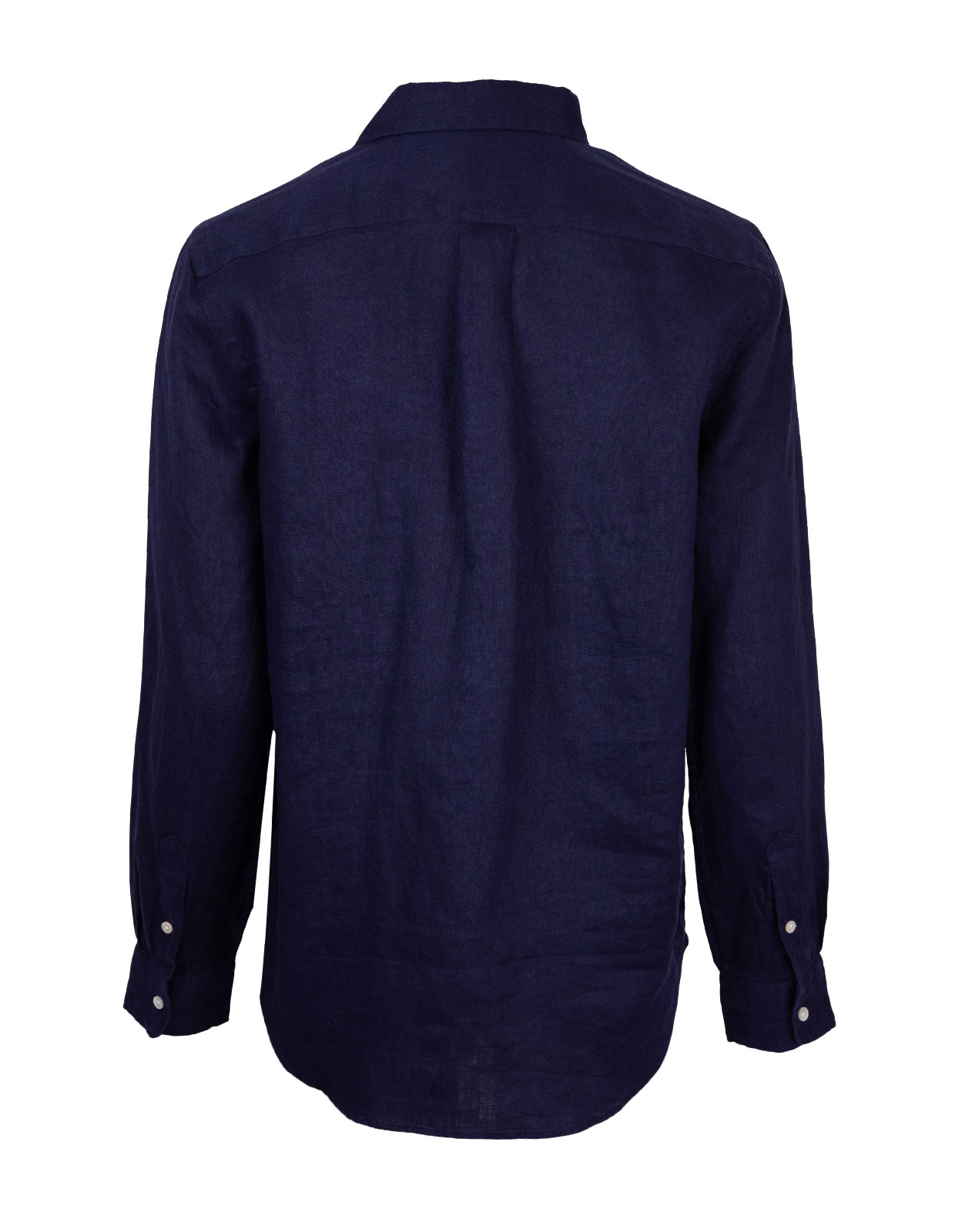 Shirt Relaxed Linen Dyed Navy
