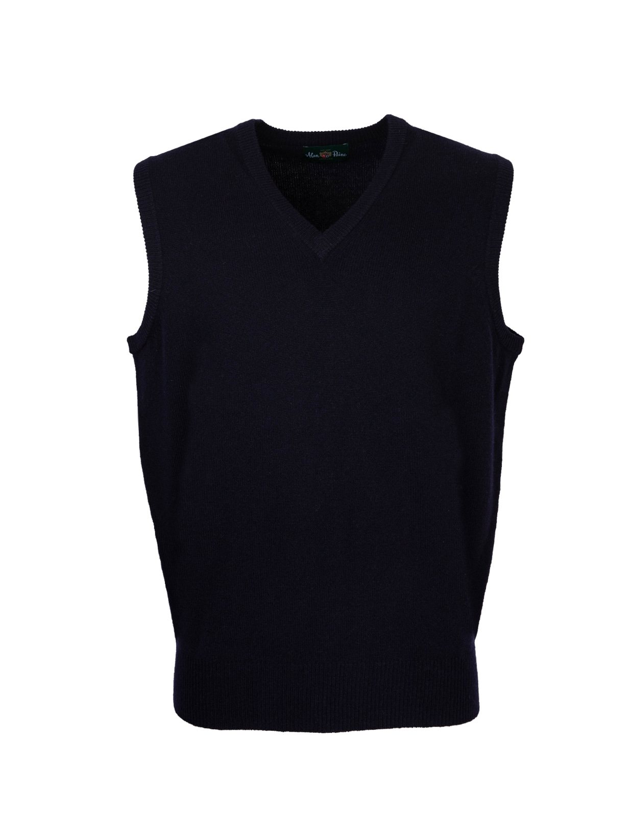 Norfolk Vee Neck Slipover Navy