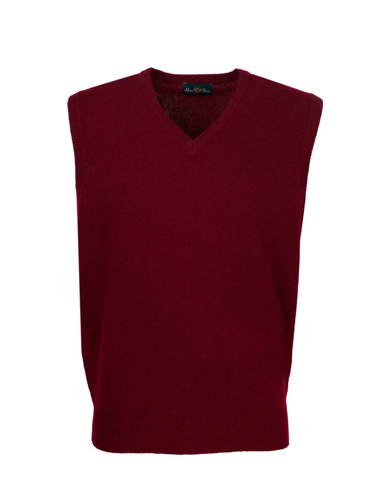 Norfolk Vee Neck Slipover Bordeaux