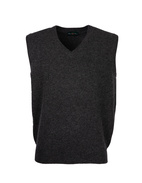 Norfolk Vee Neck Slipover Charcoal