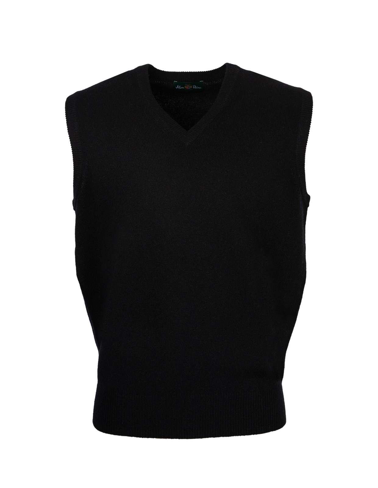 Norfolk Vee Neck Slipover Black