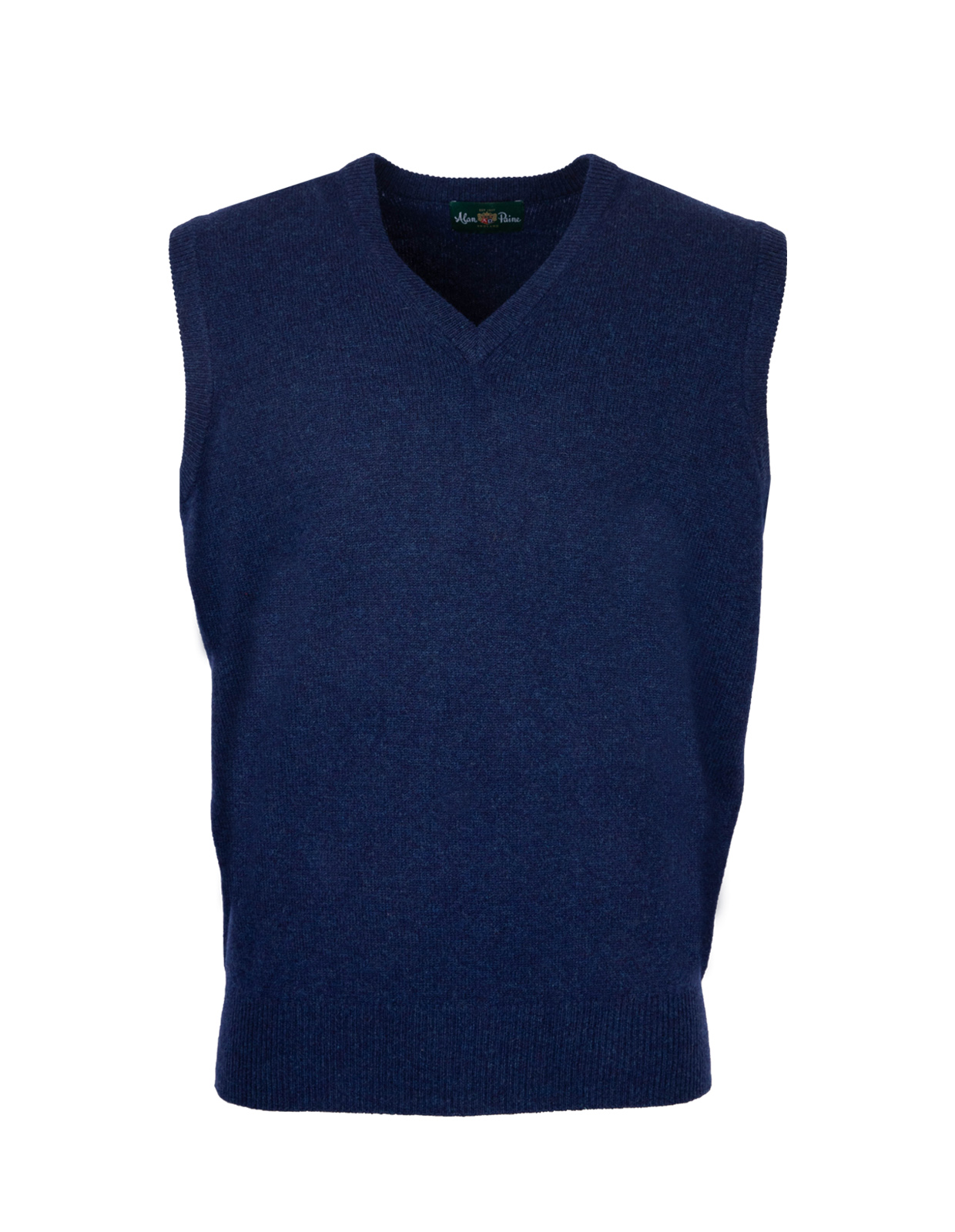 Norfolk Vee Neck Slipover Indigo
