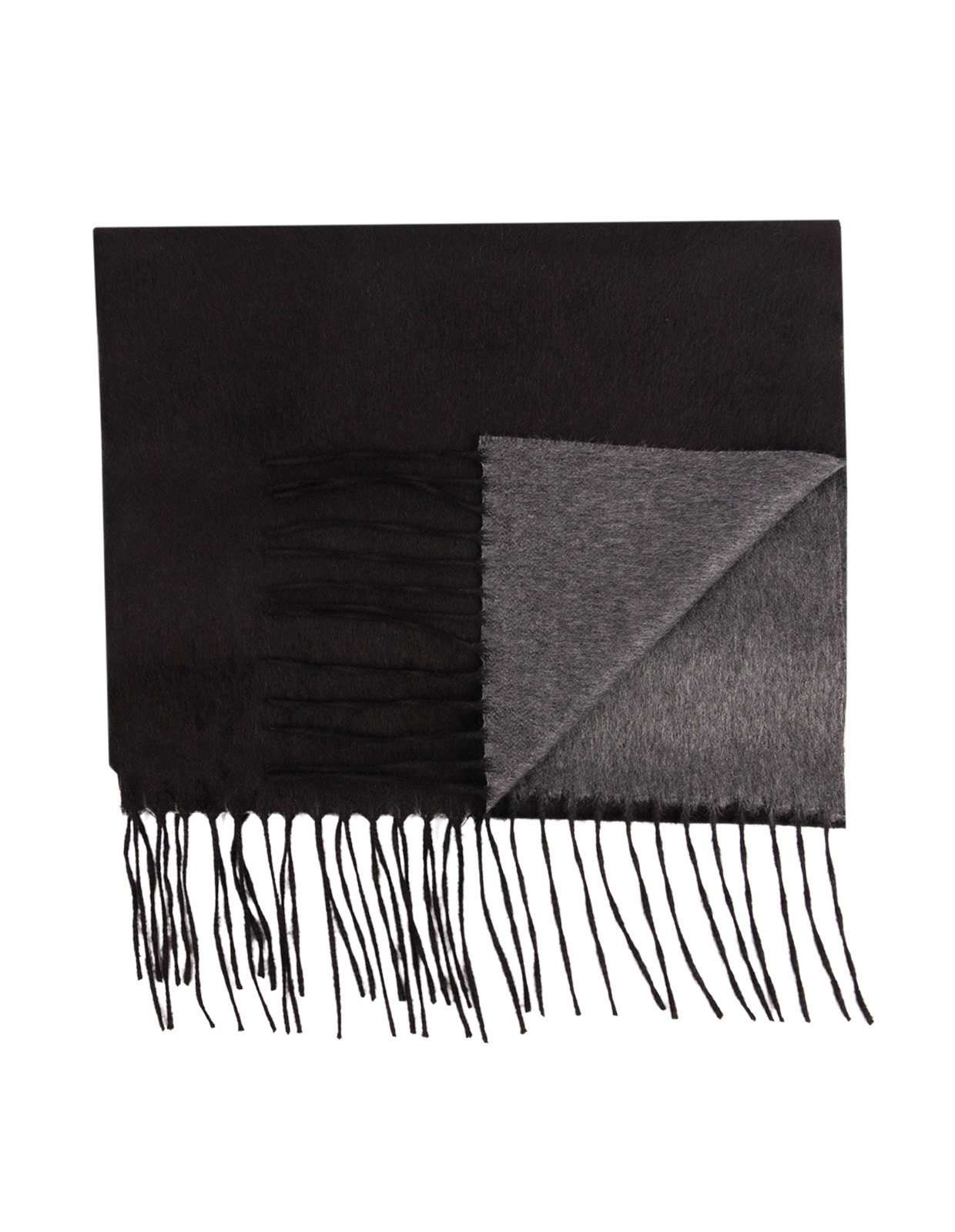 Mirror Cashmere & Silk Scarf Black/Grey
